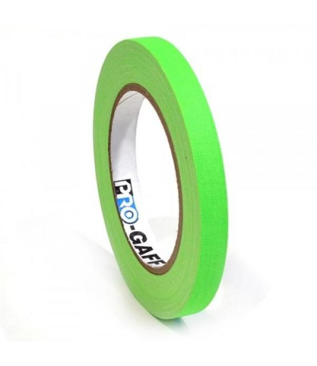 Pro Tapes Pro-Gaff neon gaffa tape 12mm x 22,8m Groen