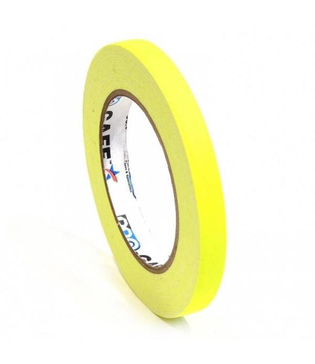 Pro Tapes Pro-Gaff neon gaffa tape 12mm x 22,8m Geel