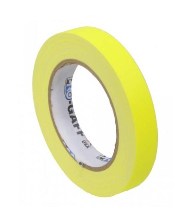 Pro Tapes Pro-Gaff neon gaffa tape 19mm x 22,8m Geel