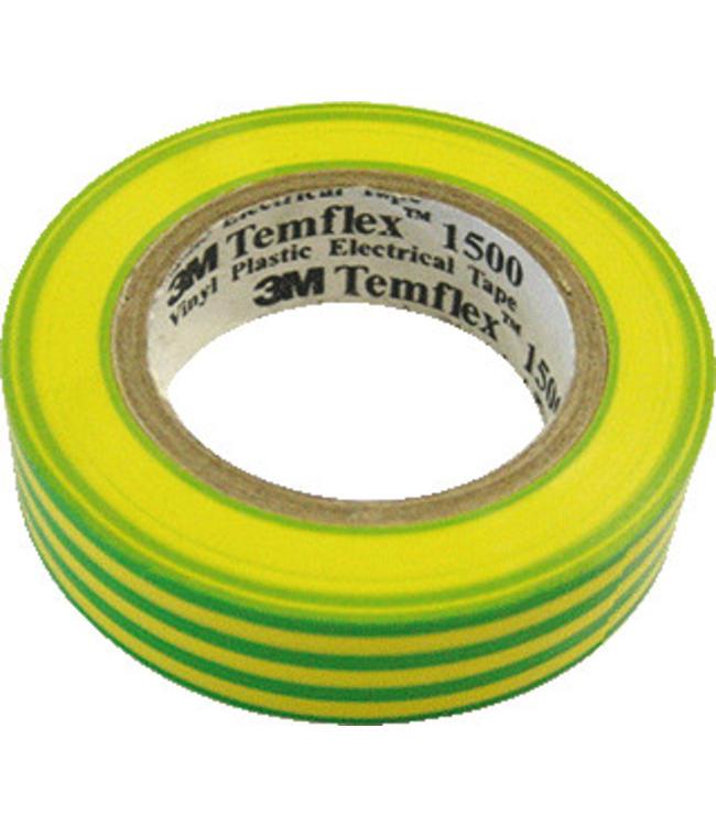 3M Isolatietape 15 mm x 10 m T1500 Geel/Groen