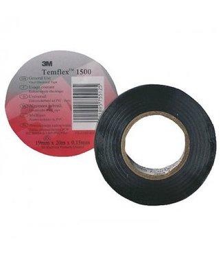 3M 3M Isolatietape 15 mm x 10 m T1500 Zwart