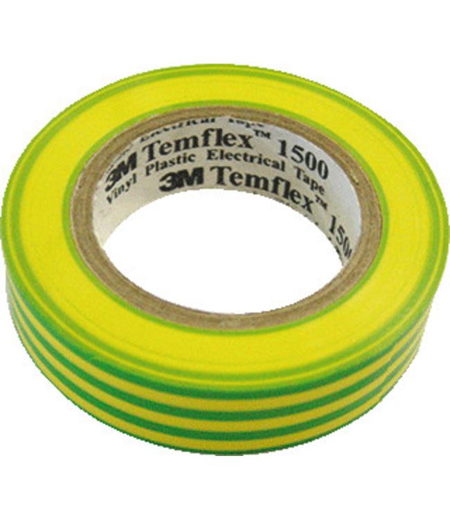 3M Isolatietape 19mm x 20m T1500 Geel/Groen