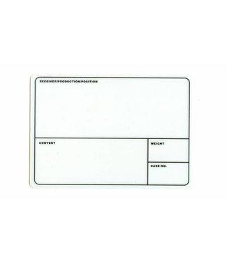 TD47 Products TD47 Étiquette de la tournée Flightcase 210mm x 145mm blanc