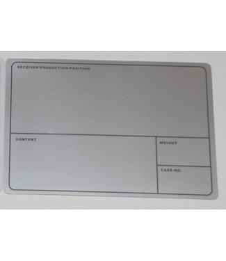 TD47 Products TD47 Étiquette de la première filière 210mm x 145mm gris