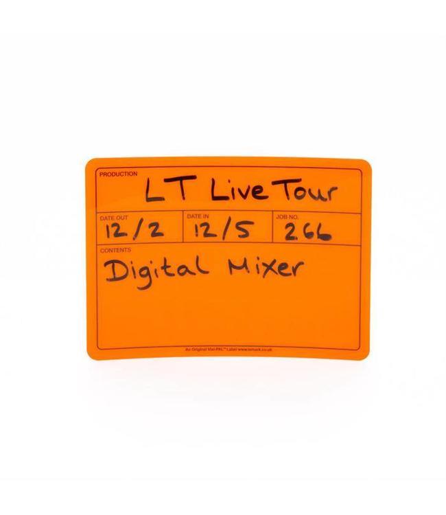 """Le'Mark Group Visi-pala """"¢ Tour-Label-178mm x 127mm fluoreszierendes Orange"""
