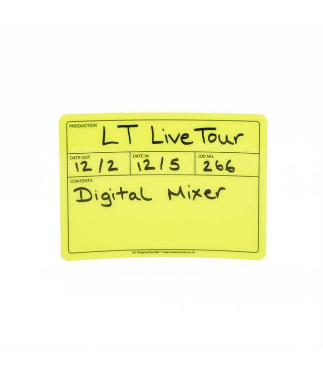 Visi-PAL™ Tour Label 178mm x 127mm Fluor Geel