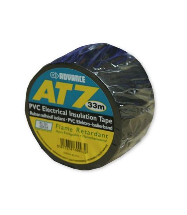 Advance AT7 PVC tape 38mm x 33m Zwart
