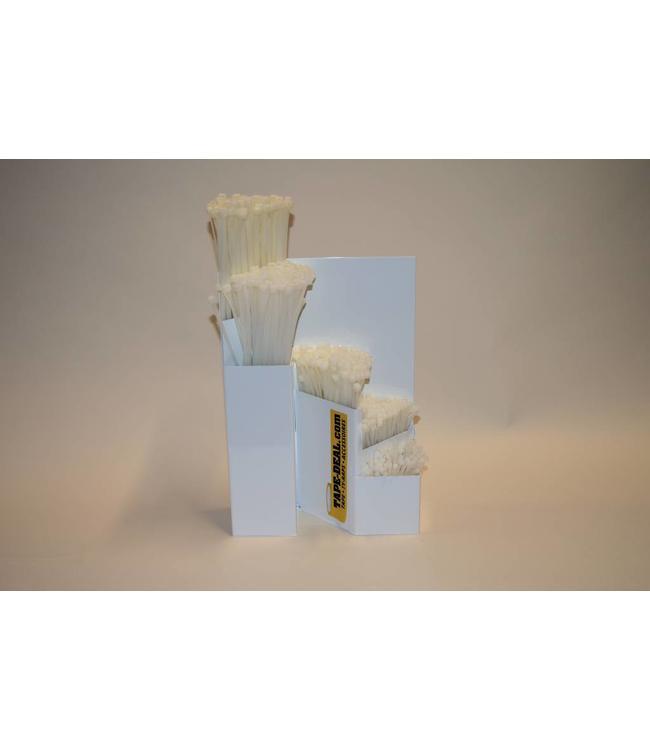 Speichersystem mit weißen Kabelbindern