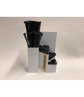 Tyrap-Deal.com Opbergsysteem met zwarte kabelbinders