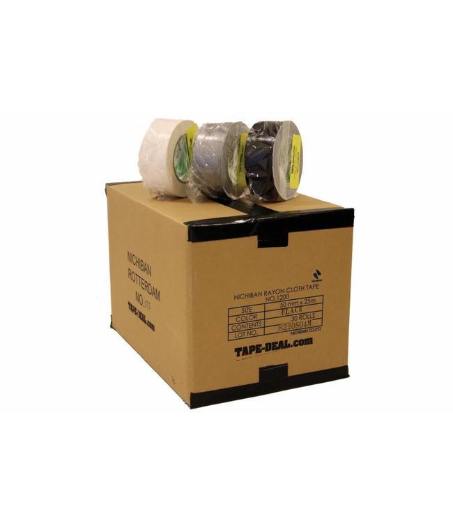Nichiban Gaffa Tape 50mm x 25m, Box in der Mischung