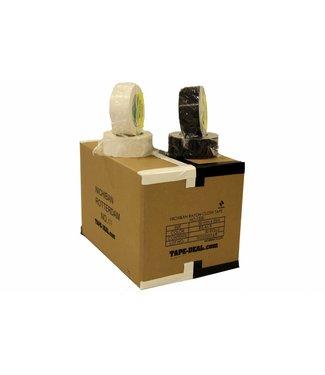 Nichiban Nichiban Gaffa Tape 50mm x 25m, boîte 15 rouleaux blanc et 15 rouleaux noirs