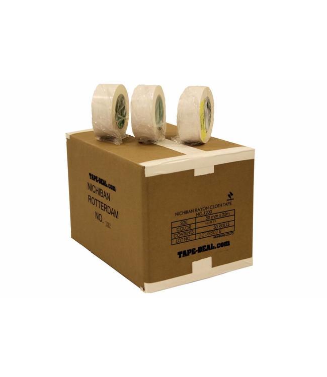 Nichiban Gaffa Tape 50mm x 25m Wit - doos 30 rollen