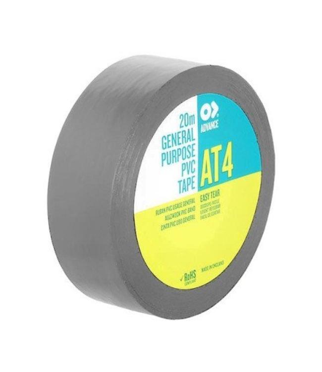Advance AT4 PVC tape 19mm x 20m Grijs