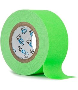 Pro fluor tape mini rol 24mm x 9.2m Neon Groen