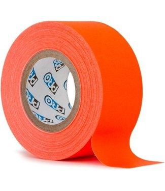 Pro Tapes Pro fluor tape mini rol 24mm x 9.2m Neon Oranje