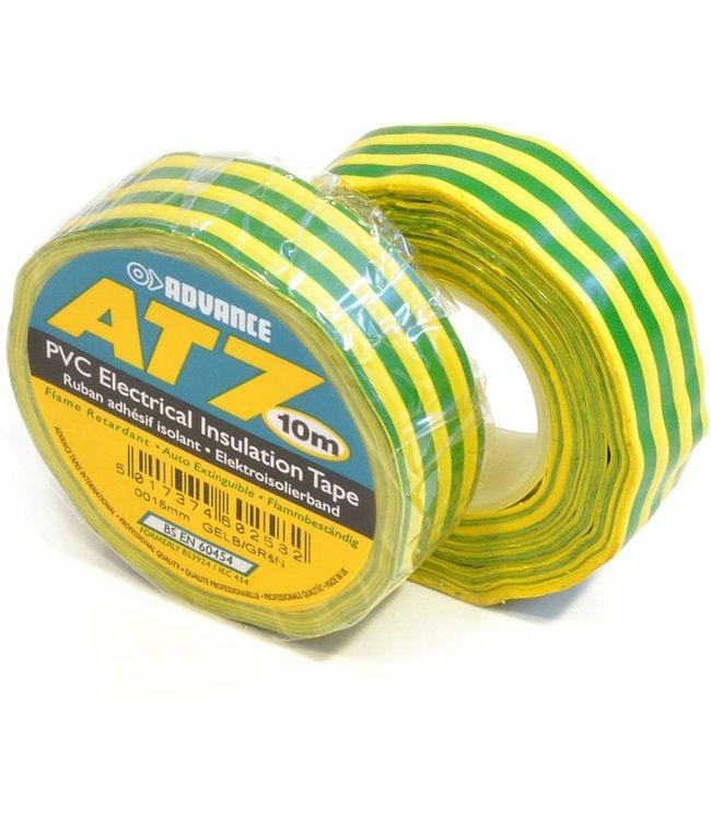 Advance AT7 PVC tape 15mm x 10m Groen/Geel