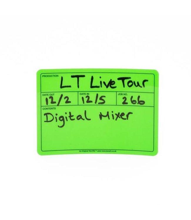 Visi-PAL™ Tour Label 178mm x 127mm Fluor Groen