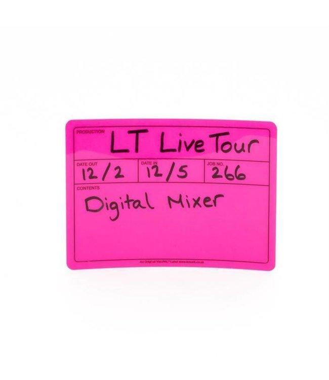 Visi-PAL™ Tour Label 178mm x 127mm Fluor Roze