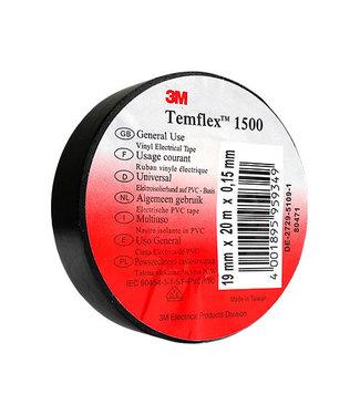3M Tape isolante 3M 19mm x 20m T1500 Noir