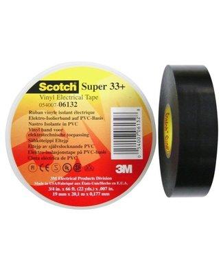 3M 3M Scotch Professionelle Isolierband 19mm x 20m schwarz super 33+