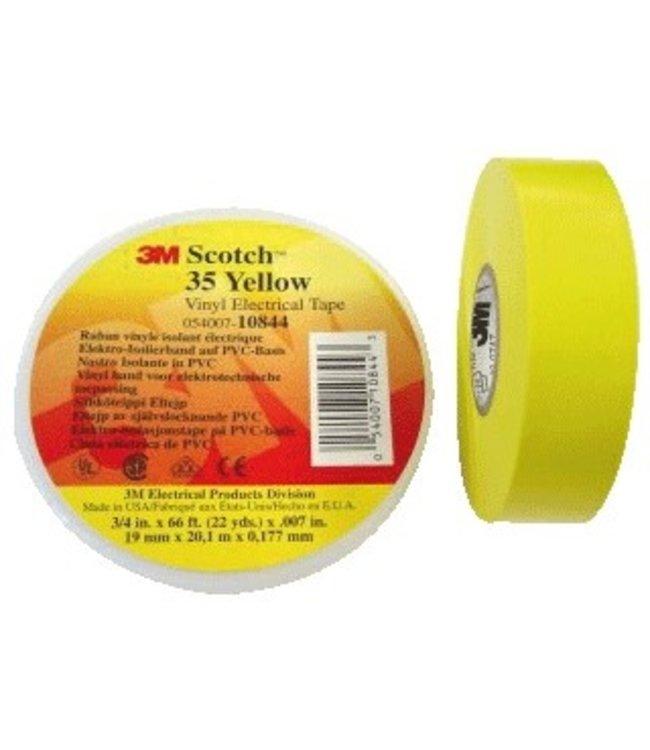 3M Scotch Professionelle Isolierband 19mm x 20m Premium-35 Gelb