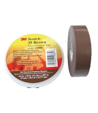 3M Scotch 3M Professional Isolatietape 19mm x 20m Premium 35 Bruin