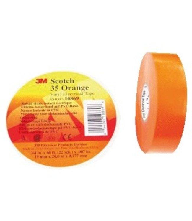 Scotch 3M Professional Isolatietape 19mm x 20m Premium 35 Oranje