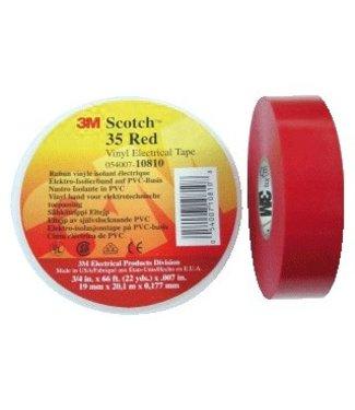 3M Scotch 3M Professional Isolatietape 19mm x 20m Premium 35 Rood