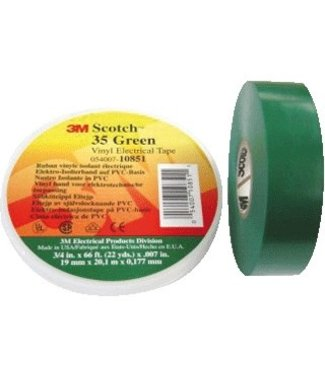3M 3M Scotch Professionelle Isolierband 19mm x 20m Premium Green 35
