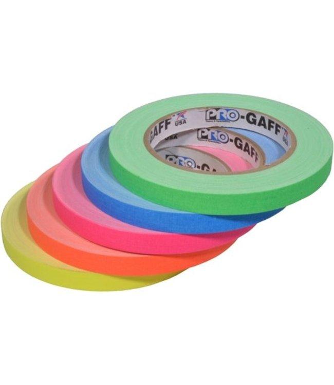 Pro Tapes Pro-Gaff neon gaffa tape 12mm x 22,8m Kleuren-mix
