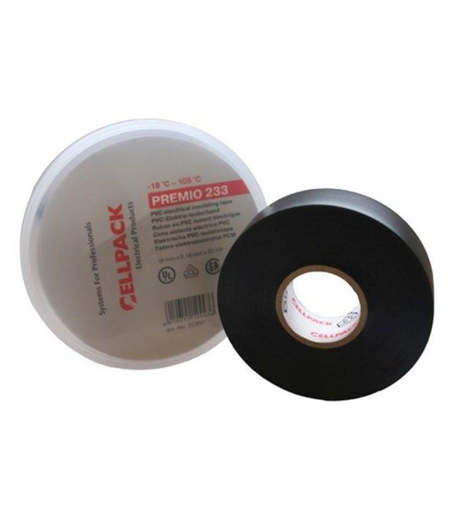 Cellpack Premio 233 Professional Isolatietape 19mm x 20m Zwart