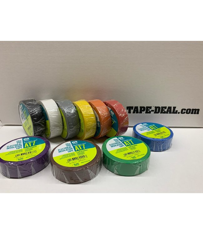 Advance AT7 PVC tape 19mm x 20m Kleuren Mix