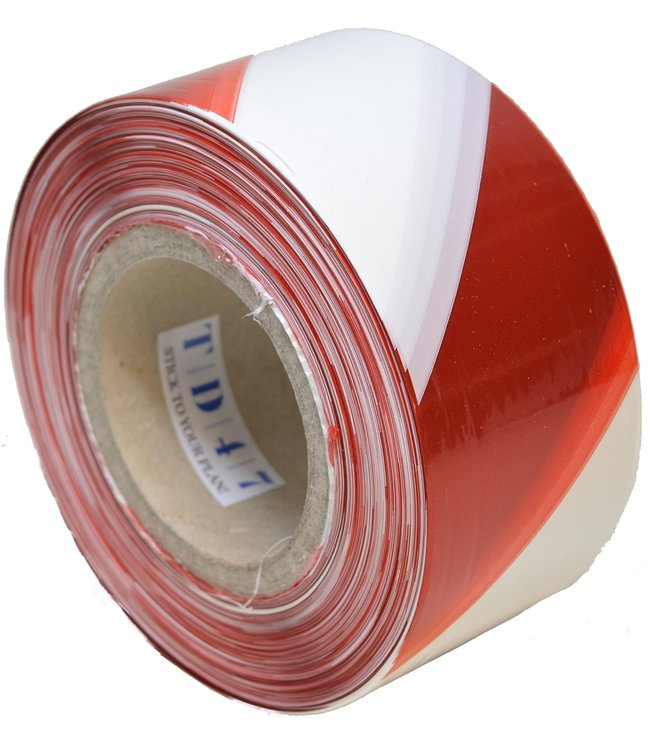 TD47 Products TD47 Afzetlint Rood/Wit 70mm x 500m