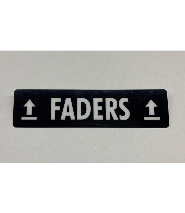 TD47 Flightcase Tour Label - FADERS
