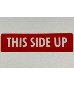 TD47 TD47 Flightcase Tour Label - THIS SIDE UP