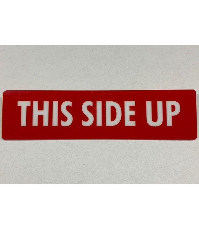 TD47 Flightcase Tour Label - THIS SIDE UP