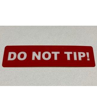 TD47 Products TD47 Flight Case-Tour-Aufkleber - DO NOT TIP!