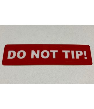 TD47 Products TD47 Flightcase Tour Label - DO NOT TIP!