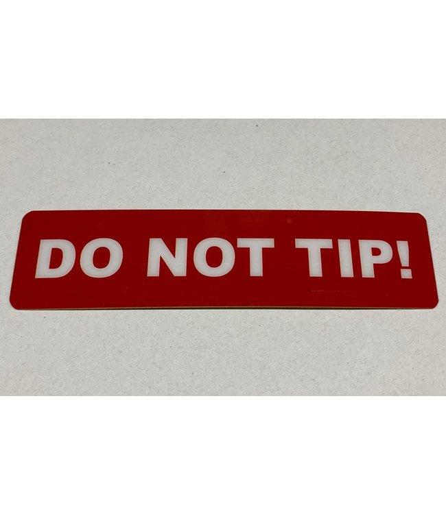 TD47 Flight Case-Tour-Aufkleber - DO NOT TIP!
