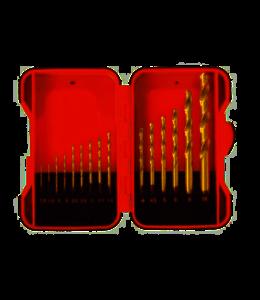 Toolland BORENSET - HSS-Metaal - 15-delig in opbergdoos