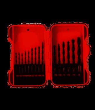 Toolland Borenset - Holz - 15 Stück in Aufbewahrungsbox
