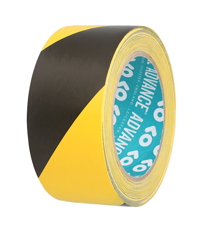 Advance AT8 PVC Markering tape 50mm x 33m Zwart/Geel
