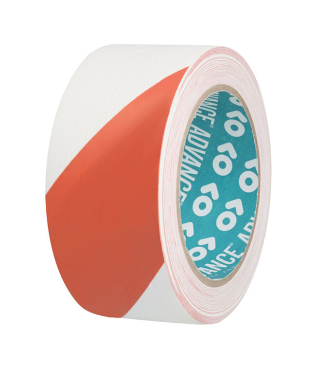 Advance AT8 PVC Markering tape 50mm x 33m Rood/Wit