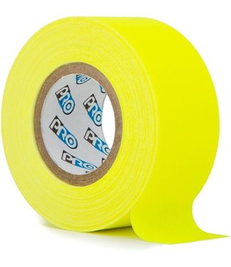 Pro Tapes Pro fluor tape mini rol 24mm x 9.2m Neon Geel