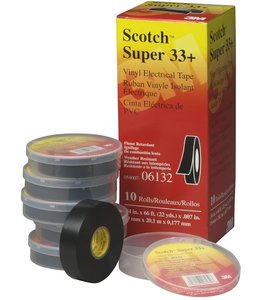 3M Scotch 3M Professional Isolatietape 19mm x 20m Super 33+ Zwart (10 Pack)
