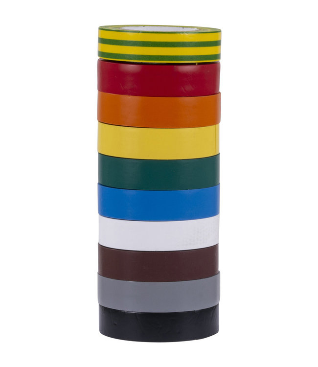 3M 3M Isolatietape 19mm x 20m T1500 Rainbowmix (10 pack)