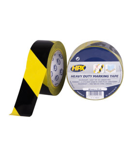 HPX HPX Heavy Duty Marking Tape 48mm x 33m Zwart/Geel