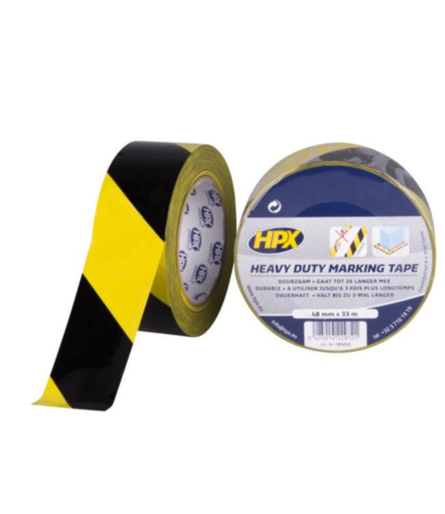 HPX HPX Heavy Duty Marking Tape 48mm x 33m Zwart/Geel