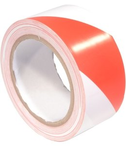 TD47 Products TD47 PVC Markeringstape 50mm x 33m Rood/Wit