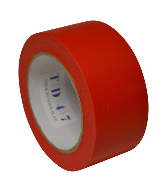 TD47 Safety Markeringstape 50mm x 33m Rood